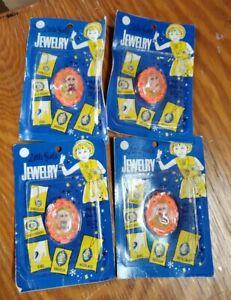 Vintage KO Liddle Kiddles JEWELRY Brooch Lot 4 Little Girl's Dolls