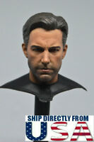 1/6 Ben Affleck Batman Head Sculpt with Neck Armor For Hot Toys Male Figure USA