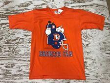 383dd1755 Denver Broncos Fan Vintage Orange Crush NFL Shirt Snoopy Peanuts Rare Med  Shirt