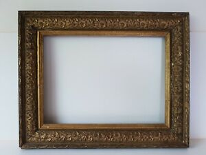 """Old Antique Victorian Gilt Picture Frame- To Fit: 11.5"""" x 8.5 inch Painting"""