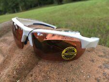 Maxx 8 HD Sunglasses white blue golf driving lens brown high definition LT