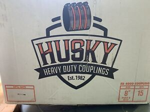 "NEW HUSKY SD 4000 HEAVY DUTY 8"" NO HUB COUPLINGS # 4016 CASE OF 15 COUPLINGS"