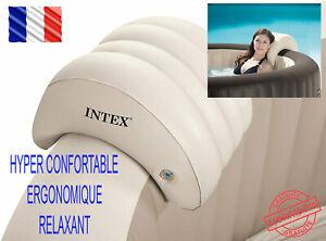 INTEX Appui Tête Pure Spa Gonflable 39 x 30 x 23 cm Beige Ergonomique Relaxant