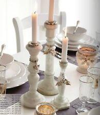 Chic Antique Kerzenständer Leuchter Bauernsilber mit Perlen H 30 cm