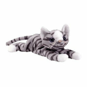 TY Beanie Baby - PRANCE the Gray Tabby Cat (8 inch) - MWMTs Stuffed Animal Toy