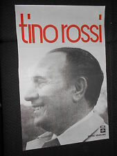 TINO ROSSI 60s RARE AFFICHE ORIGINALE FRENCH POSTER