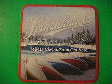 2011 Beer Coaster <> LEINENKUGEL'S Holiday ~ Chippewa Falls, WI ~ Canoes in Snow