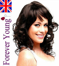 Wigs Ladies Fashion Full Wigs Hair Wavy Dark Brown Long Wig  Forever Young UK