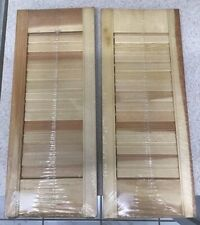 2 Flair Fold Western Pine Wood Indoor Outdoor Louver Window Shutters 8x20 L2 New
