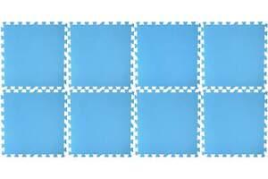 Pool Bodenmatte 8er Pack 50x50 cm blau Pool Bodenschutz Unterlage Planschbecken