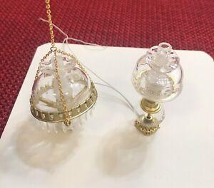Vintage  Dollhouse Electric Brass Chandelier