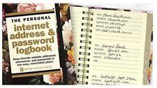 Password Book Tabs Internet Website Username Hardcover Spiral Bound Black Floral