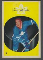 1962-63 Parkhurst Toronto Maple Leafs Hockey Card #7 Tim Horton