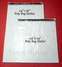 5 Extra Large Poly Bag Mailer Combo ~ 24x24 & 24x36 ~ Big Shipping Envelope Bags