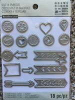 Recollections Cut And Emboss 542696 Planner Tabs (18 Cutting Dies) NEW