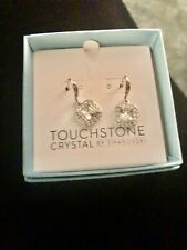 Touchstone crystal earrings by Swarovski