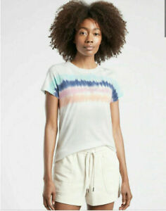 NWT ATHLETA Organic Daily Tie Dye Stripe Tee - S - SMALL - Multi - Lifestyle