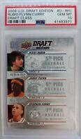 2009-10 UD Draft Edition STEPHEN CURRY, Rubio, Flynn Rookie RC #D-RFC, PSA 10