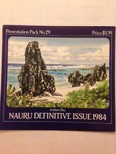 1984 Nauru Definitive Issue presentation post office pack 29  MUH