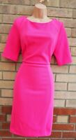 DOROTHY PERKINS TEXTURED PINK SHORT SLEEVE BODYCON FORMAL PENCIL DRESS 14 L