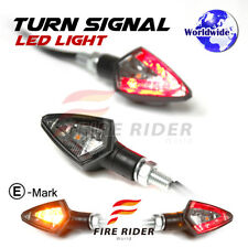 For Suzuki Motorcycles Smoke Kiva LED Turn Signals Red Rear Brake Light