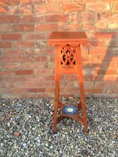 More details for early 20thc arts & craft style plant stand, jardinière , lamp table.