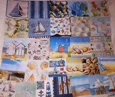 Set of 28 ~ Paper Napkins ~ Art, Decoupage, Crafts ~ NAUTICAL, SEA, BOAT, BEACH