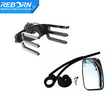 New listing Reborn Quick Release Wakeboard Rack + Angle Free Adjust Wakeboard Mirror Black