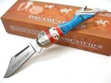 RR1523 Couteau Forme de Jambe de Femme Acier 440 Manche Dreamcatcher Rough Rider