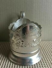 Vintage Russian Soviet podstakannik Zaporozhye tea glass holder Aluminum USSR
