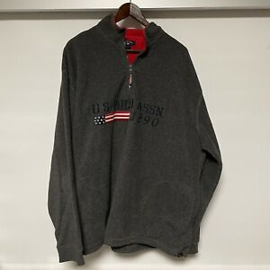 U.S. Polo Assn. Since 1890 2XL Men's Quarter-Zip Sweater Size XXL Gray 2xl