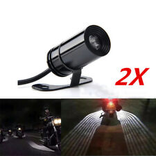 2x Angel Wings Motorcycle Underbody Projector Light Pedal Lamp White Universal