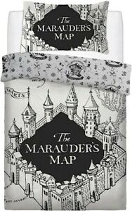 """OFFICIAL HARRY POTTER, """"MARAUDERS MAP"""" Duvet Cover set, FREE DELIVERY & RETURNS."""