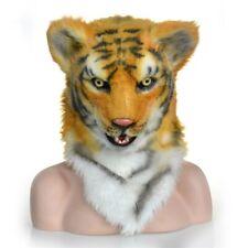 Fursuit Animal Costume Lifelike Headgear Tiger Hood Mouth Moving Cos