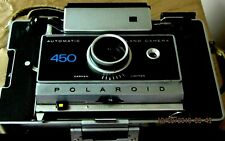 VINTAGE POLAROID 450 CAMERA w/ SELF TIMER #192 AND ACCESSORIES LOT SOLD AS IS !!