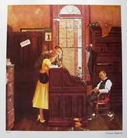 """Norman Rockwell Facsimile Signed Limited Edition Lithograph """"MARRIAGE CONTRACT"""""""