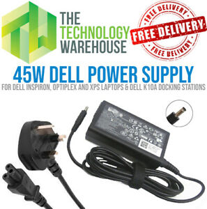 Genuine Dell 45W Charger PSU - Round Tip 4.5mm*3mm - 19.5V 2.31A + Power Cable