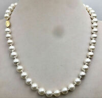 """AAA 8MM white SOUTH SEA shell PEARL NECKLACE 18"""""""