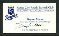 Dayton Moore signed autograph auto Kansas City Royals GM Business Card BC267