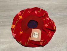 RRP £38 * Girls Kids Designer Beret Hat * Catimini * Age 4-6 * Red Floral