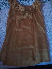 Débardeur femme BCBG MAXAZRIA silk top doré taille O/XXS