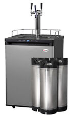 Kegco Digital Homebrew Kegerator Triple Faucet Stainless with Ball Lock Kegs