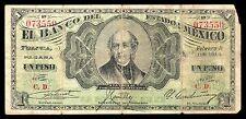 El Banco del Estado de Mexico 1 Peso 2.09.1914, M404 / BK-MEX-1 Series 3. F