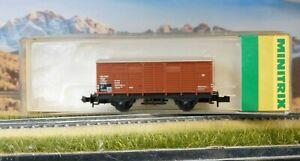 wagon transport marchandise   -  TRIX -  N 1/160