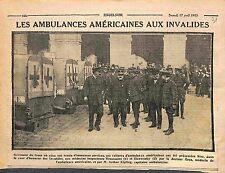 Ambulance Ambulanciers Croix Rouge US Red Cross aux Invalides Paris WWI 1915