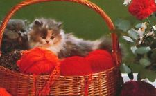 """""""PERSIAN"""" Cats Kittens Basket Of Yarn 1000 Pcs Pieces BOXLESS Jigsaw Puzzle 100%"""
