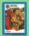 1989 NORTH SYDNEY BEARS STIMOROL RUGBY LEAGUE CARD #83 BRETT FRENCH