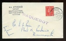1951 Geoorge VI Paquebot Cancel SS Athenio Curacao Cancel