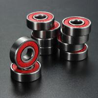 10Pcs Red ABEC 7 Skateboard Wheels Bearings Skate Scooter Ball Roller Latest