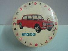 Antique advertising tin box car SIMCA 1500